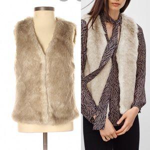 Talula faux fur vest size small